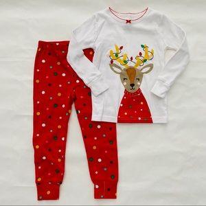 Carter's | @ Reindeer Christmas Pajama Set 2T